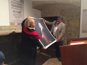 Entrega del Retrato del T. General D. Juan Martín Zermeño al Ilmo. Alcalde de Ciudad Rodrigo