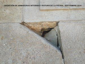 Rotura piedra Castillo de Montjuic